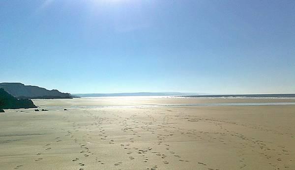 Sandymouth Beach Deserted