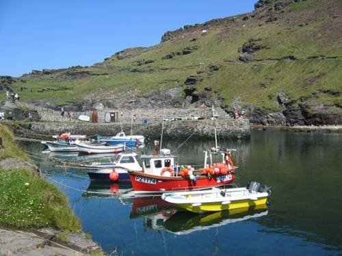 Boscastle Harbour Scene
