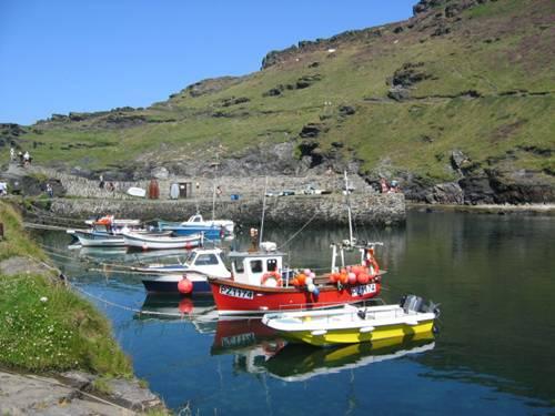 Boscastle Harbour Scene